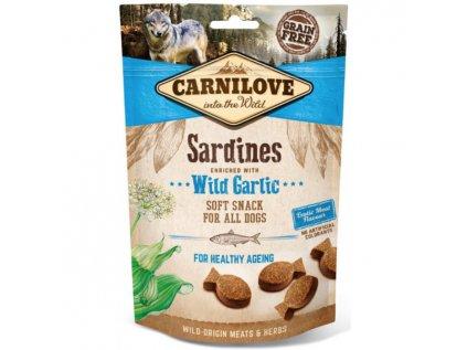 19686 carnilove dog sardines with garlic 200g
