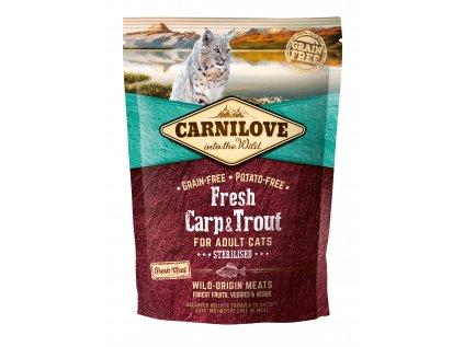 19746 carnilove cat fresh carp trout sterilized 0 4kg