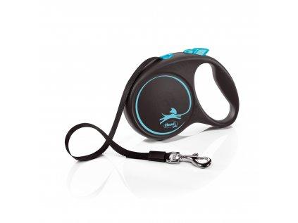 Flexi Black Design L páska 5m/50 kg světle modré