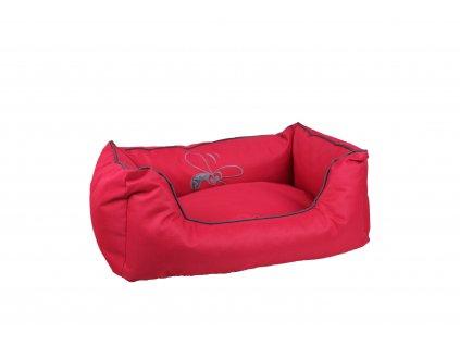 Huhubamboo kanape S červeno sivé
