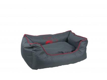 Huhubamboo kanape S sivo červené