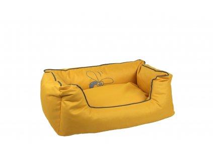 Huhubamboo kanape L žlto sivé