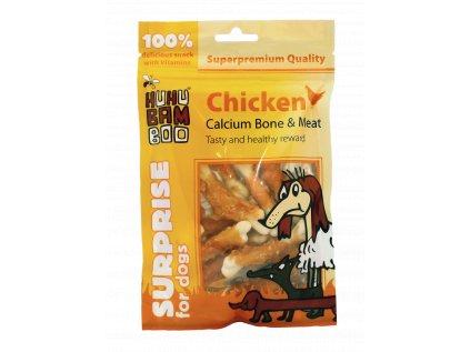 3054 huhubamboo kureci maso na kosti s kalciem 75g
