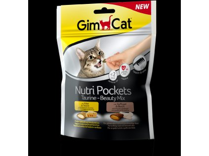 3459 gimcat nutri pockets taurine beauty mix 150g