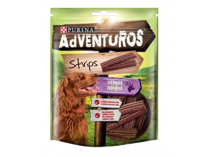 5316 adventuros snack strips zverina 90g