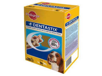 8325 pedigree pochoutky denta stix medium bonus 28pack 720g