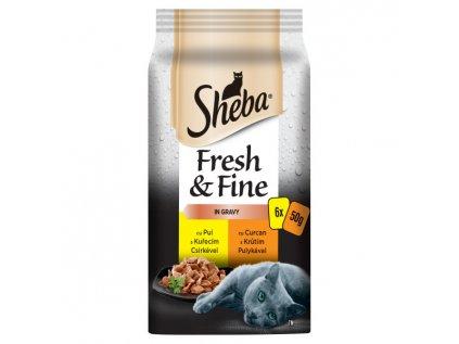SHEBA MINI SHEBA Fresh & Fine hydinové výběr 6pack 300g