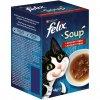 Kapsička FELIX Soup polévky s hovadzim,kuratom a jahnacim 6x48g