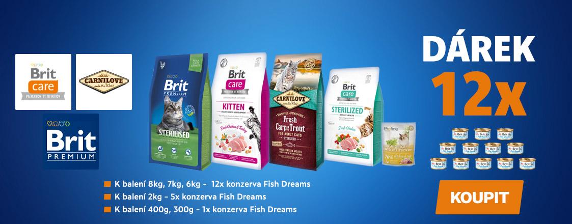 Dárek k nákupu konzervy Fish Dreams