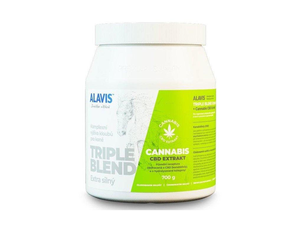Alavis Triple Blend Extra silný + Cannabis CBD Extrakt 700g