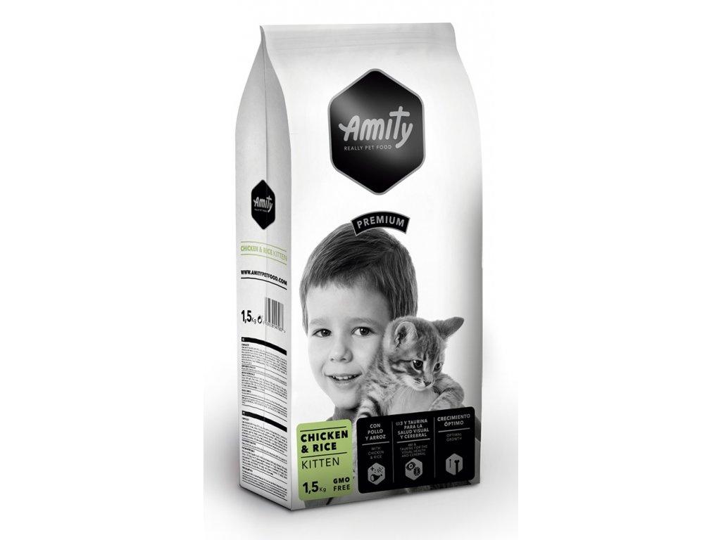 Amity Premium Cat Kitten Chicken & Rice 1,5 kg