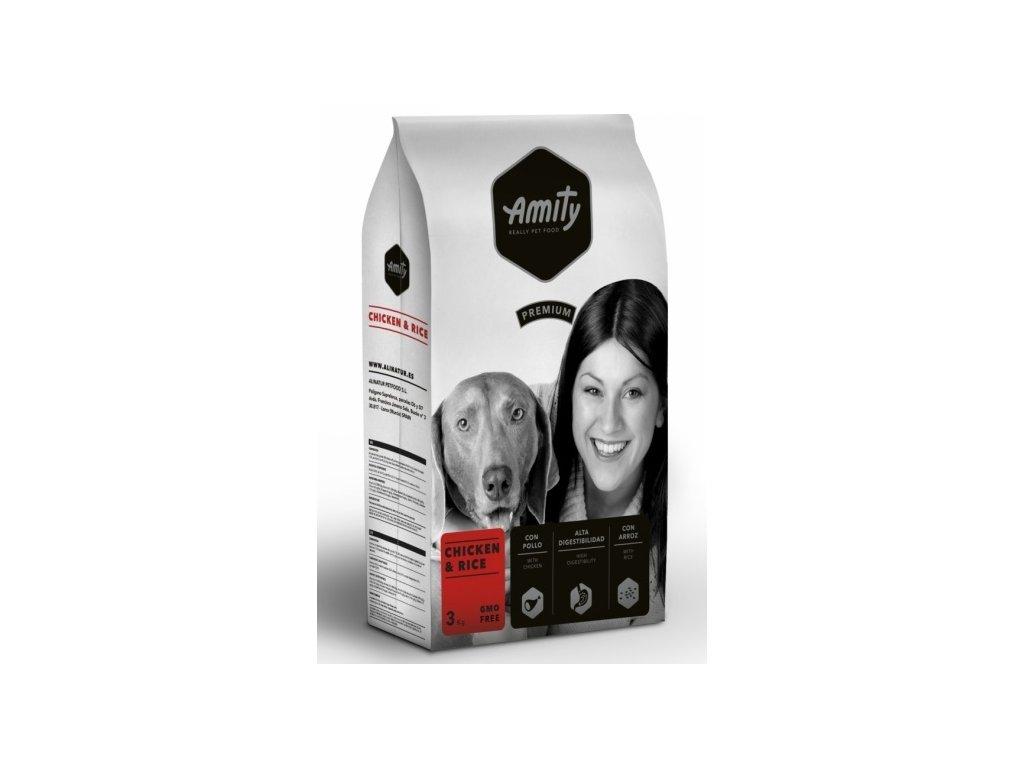 AMITY premium dog Chicken & Rice 3kg | Tenesco.cz