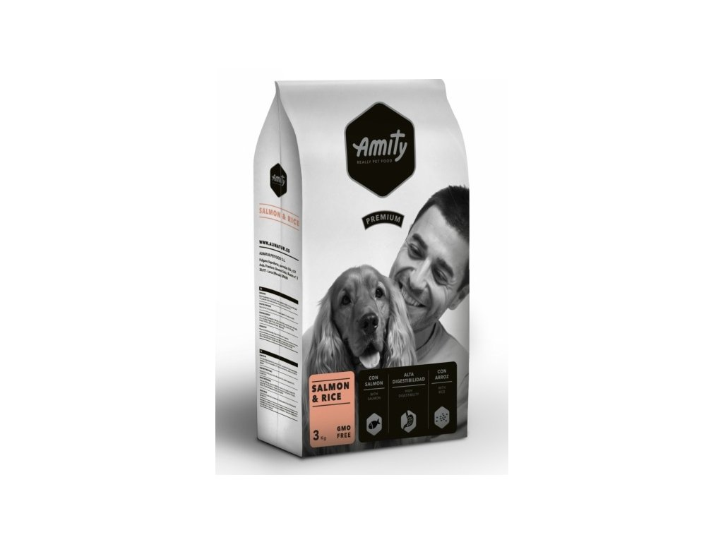 AMITY premium dog Salmon & Rice 3kg | Tenesco.cz