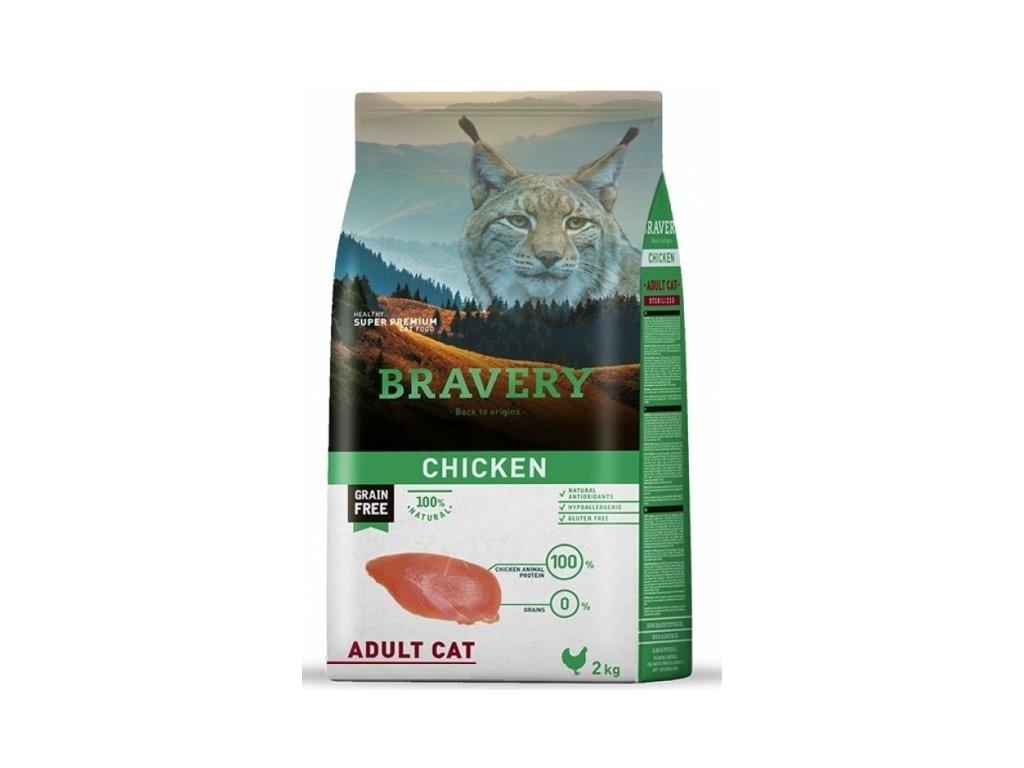 BRAVERY cat ADULT Grain Free chicken 2 kg