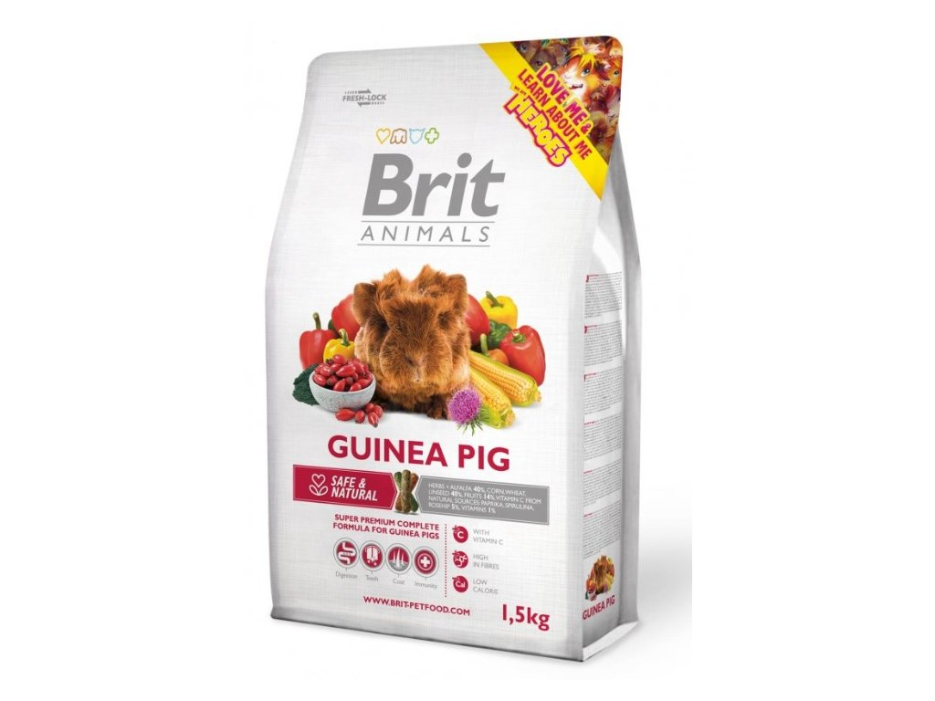 2724 brit animals guinea pig complete 1 5kg