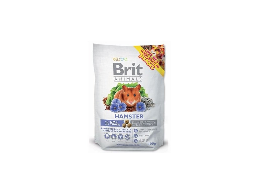 2838 brit animals hamster complete 100g
