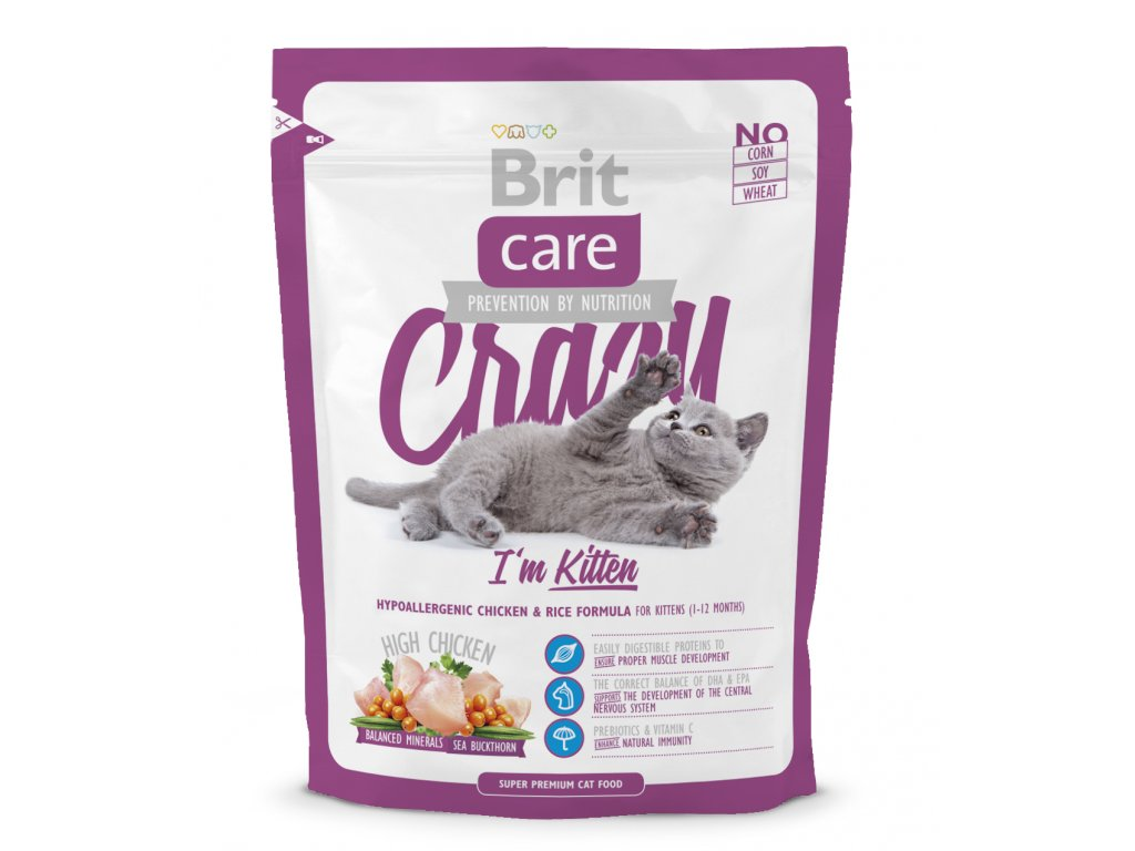 2967 brit care cat crazy kitten 400g