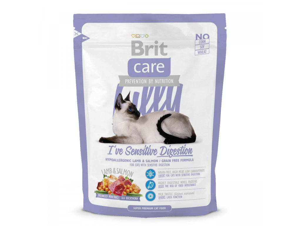 3012 brit care cat lilly sensitive digestion 400g
