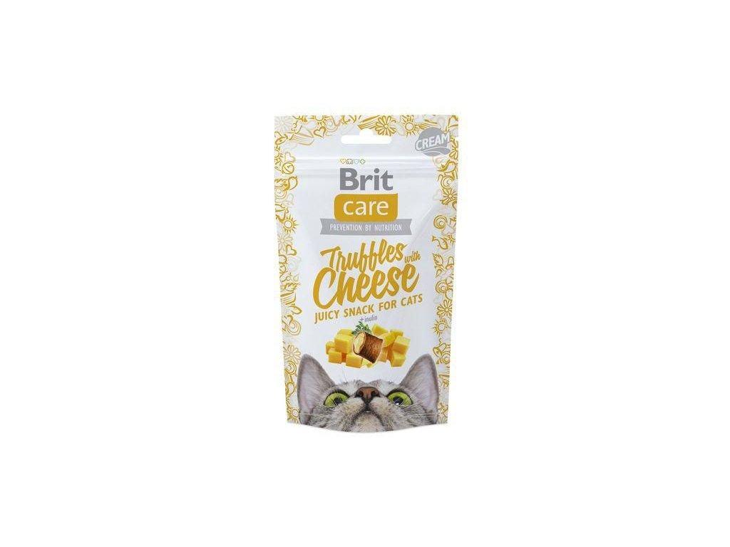 4608 brit care cat snack truffles cheese 50g