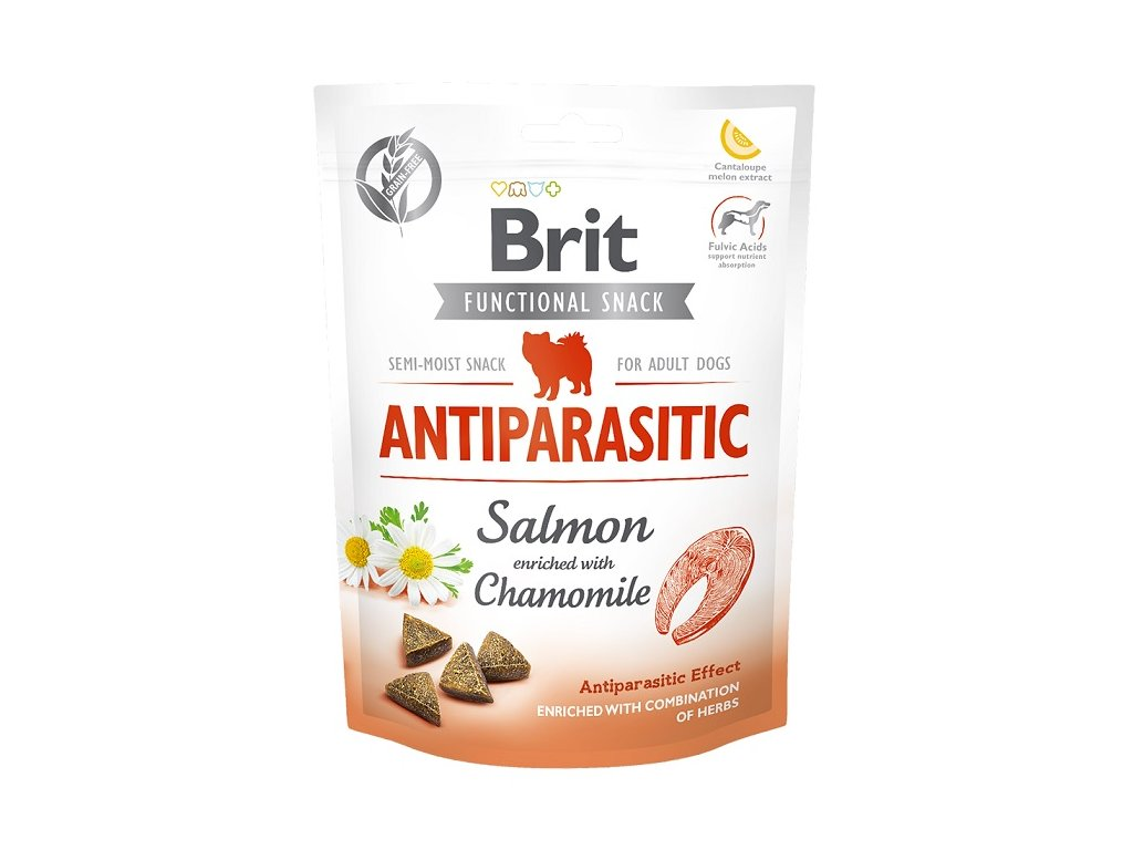 7620 brit care dog functional snack antiparasitic salmon 150g