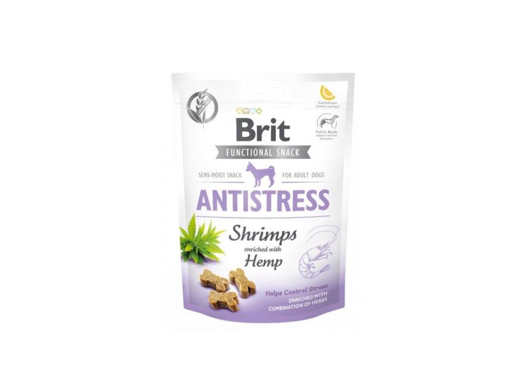 7611 brit care dog functional snack antistress shrimps 150g