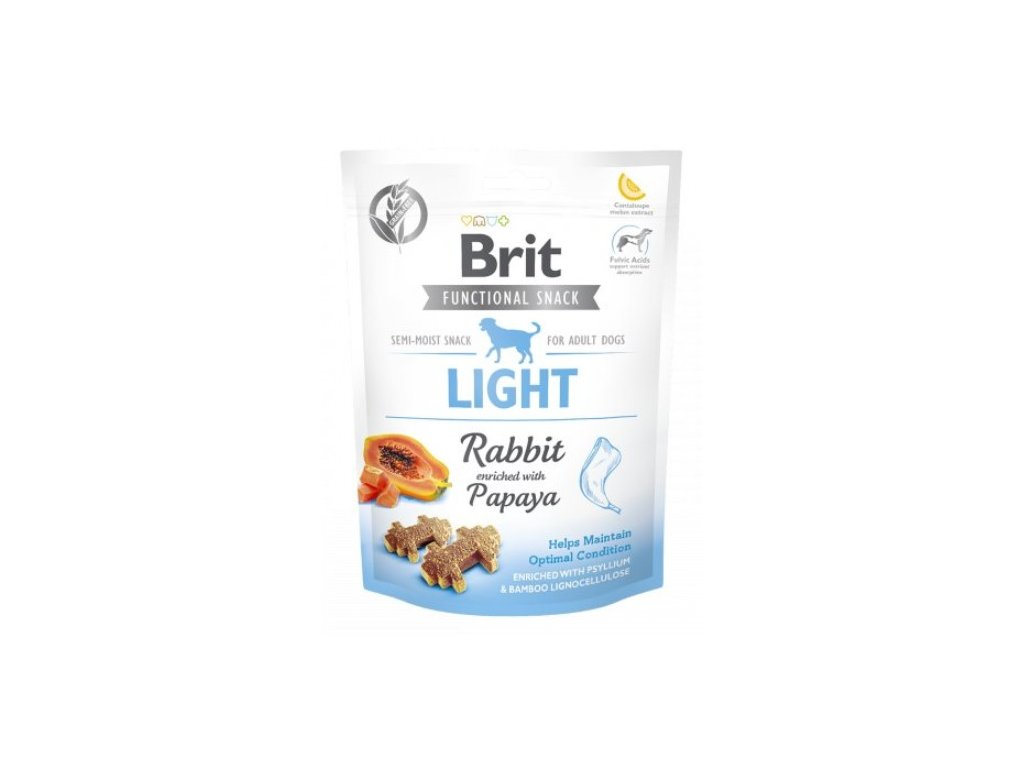 7602 brit care dog functional snack light rabbit 150g