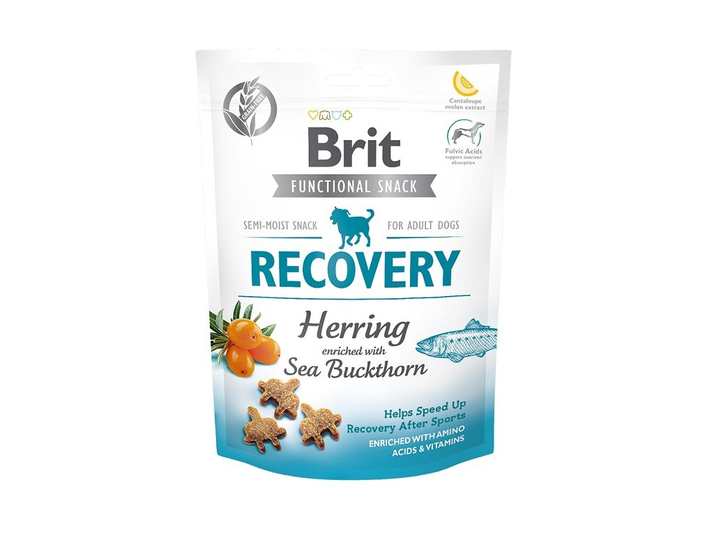 7623 brit care dog functional snack recovery herring 150g