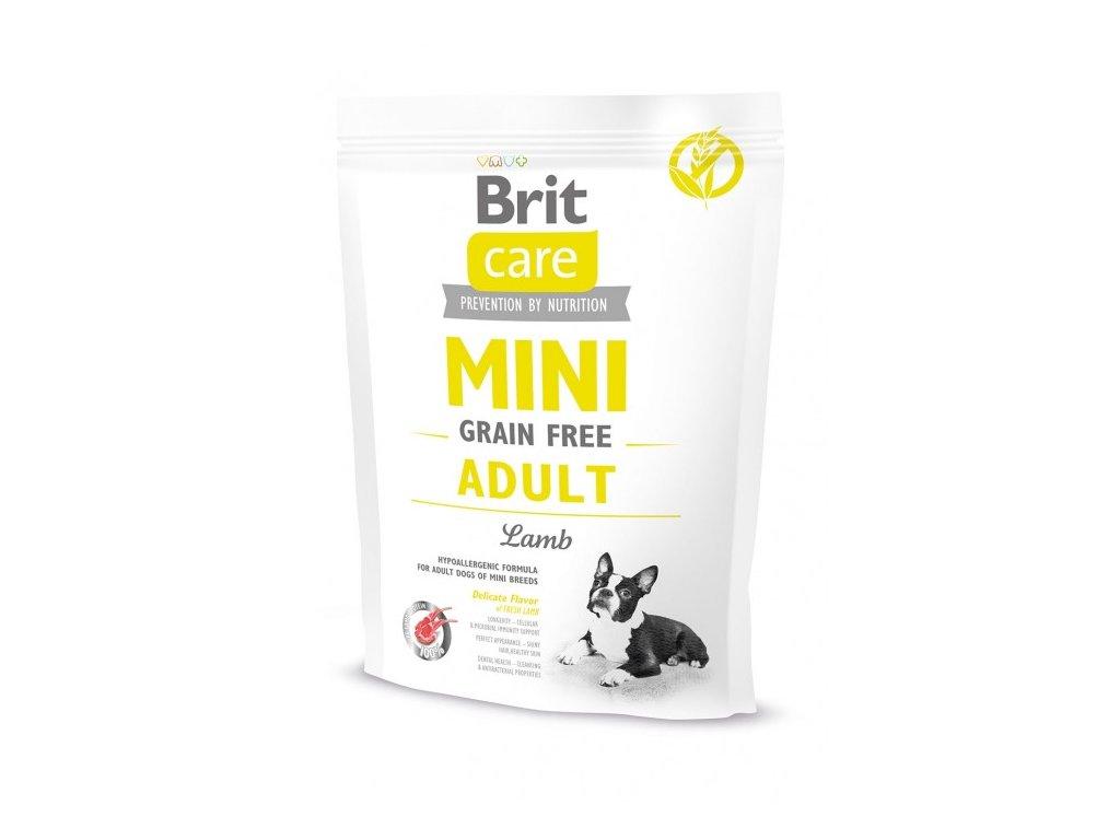 4686 brit care mini grain free adult lamb 400g