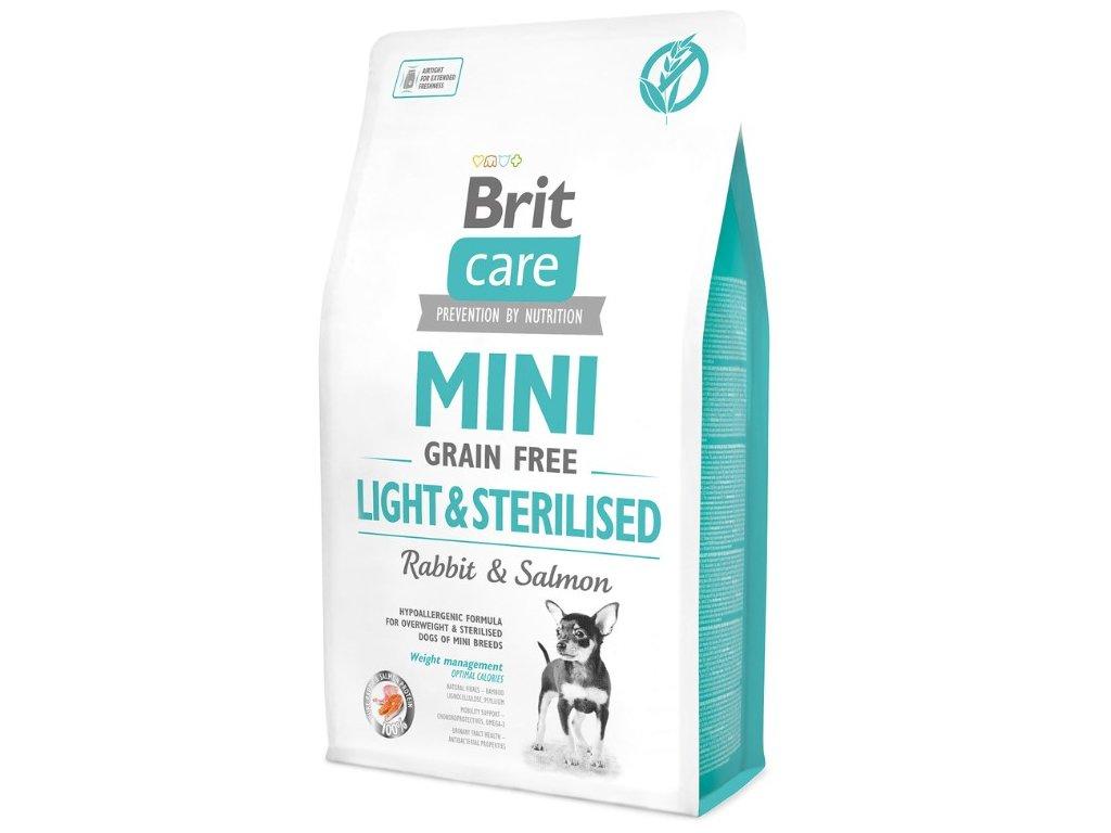 4716 brit care mini grain free light sterilised 2kg