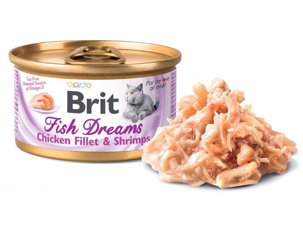 5916 brit fish dreams chicken fillet shrimps 80g