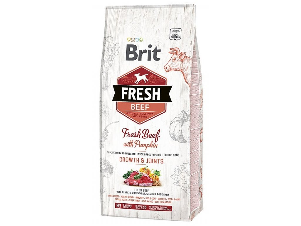 Brit Fresh Beef & Pumpkin Puppy Large 12 kg