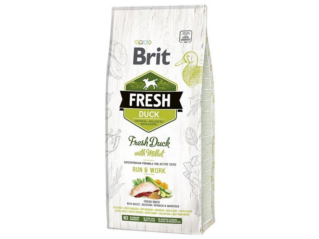Brit Fresh Duck & Millet Active Run & Work 12 kg