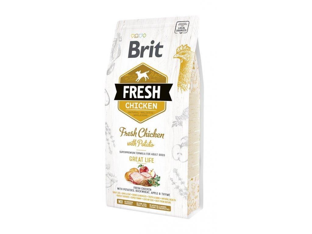 Brit Fresh Chicken & Potato Adult Great Life 2,5 kg