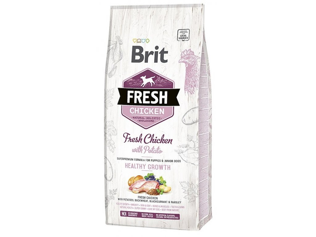 6912 brit fresh chicken potato puppy healthy growth 12kg