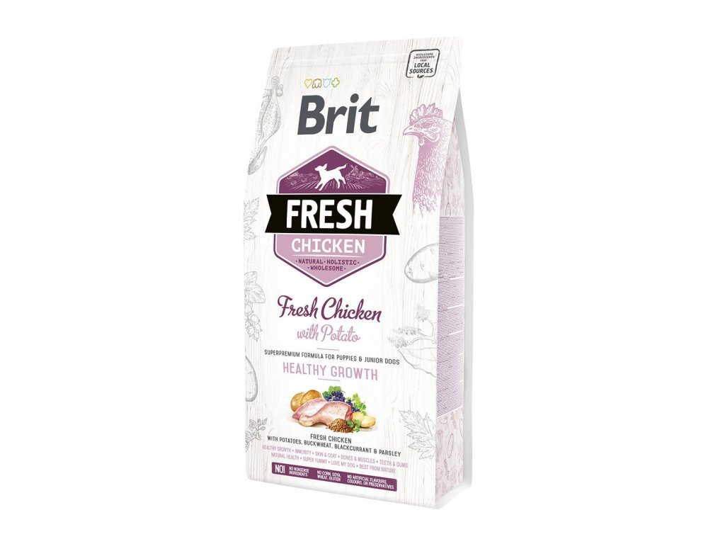 Brit Fresh Chicken & Potato Puppy Healthy Growth 2,5 kg