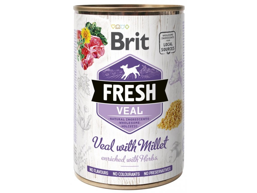 6906 brit fresh veal with millet 400g