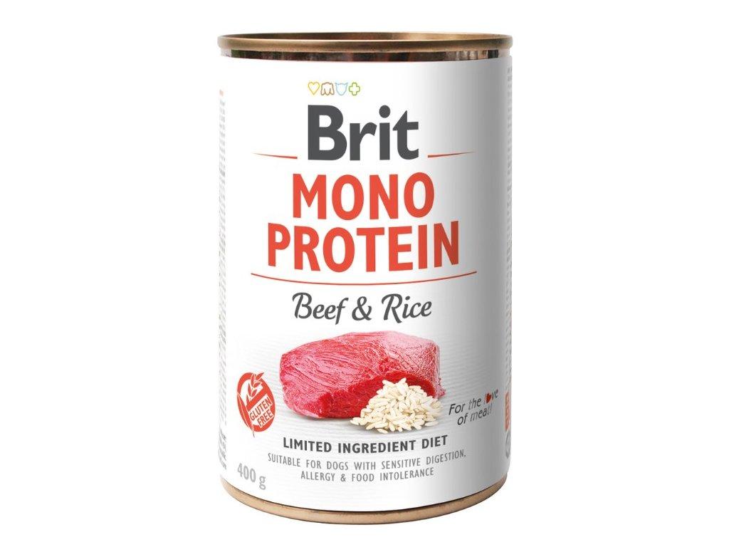 8076 brit mono protein beef brown rice 400g 3 1 zdarma