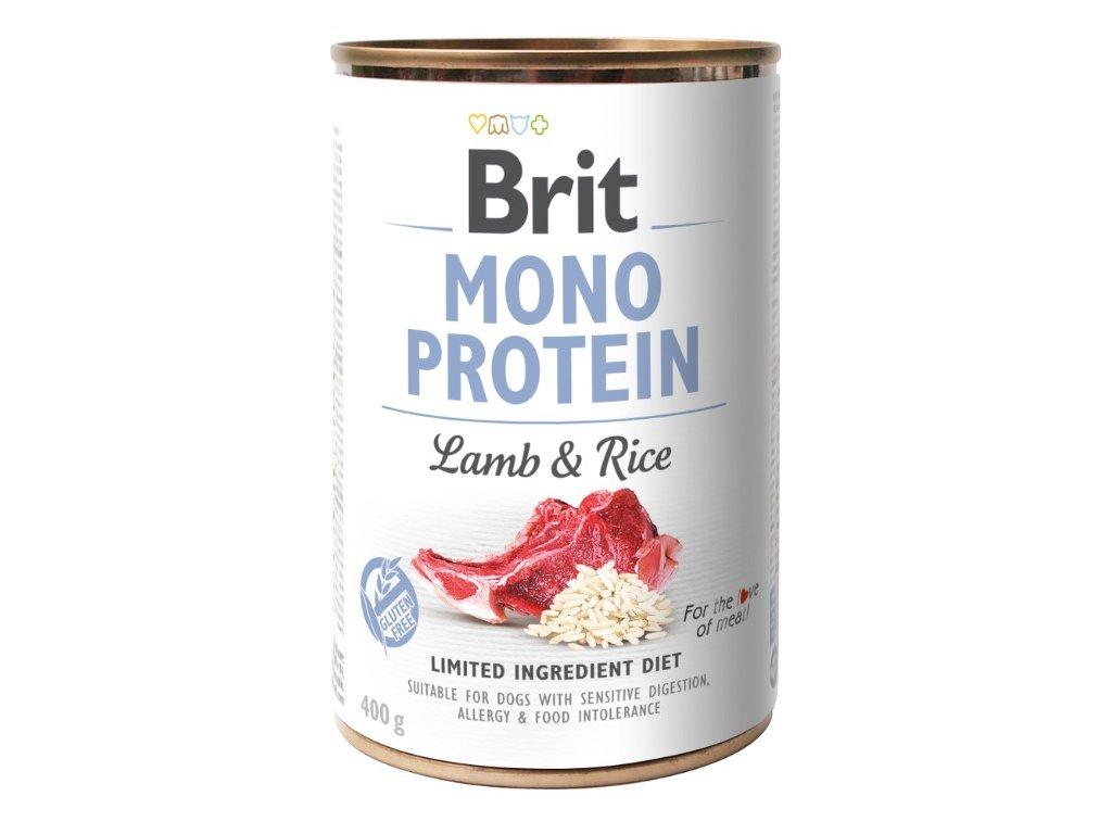 5430 brit mono protein lamb brown rice 400g