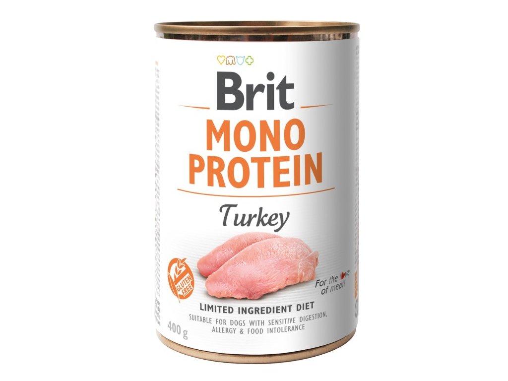 8094 brit mono protein turkey 400g 3 1 zdarma