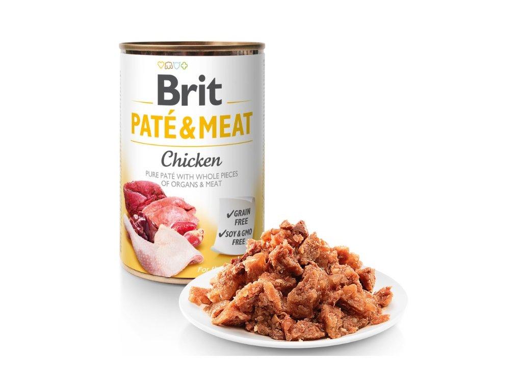 8055 brit pate meat chicken 400g 5 1 zdarma