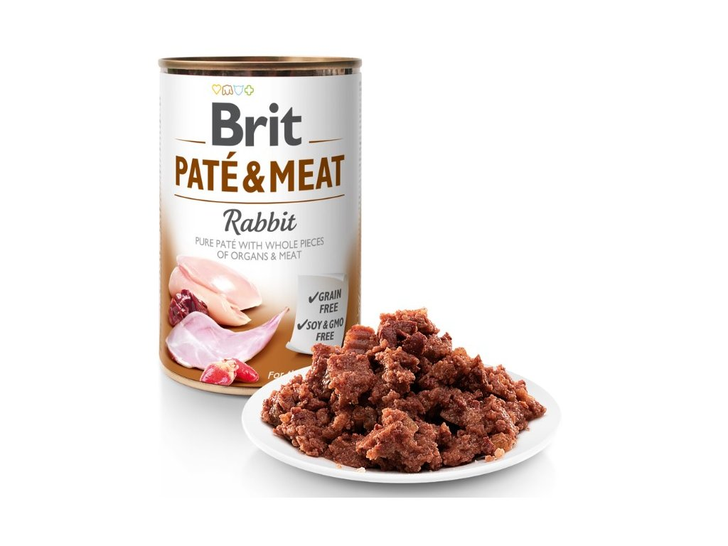 8064 brit pate meat rabbit 400g 5 1 zdarma