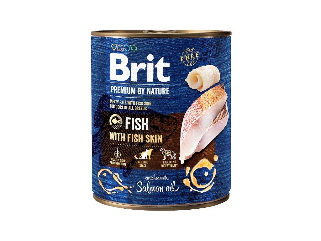 7662 brit premium by nature fish with fish skin 800g