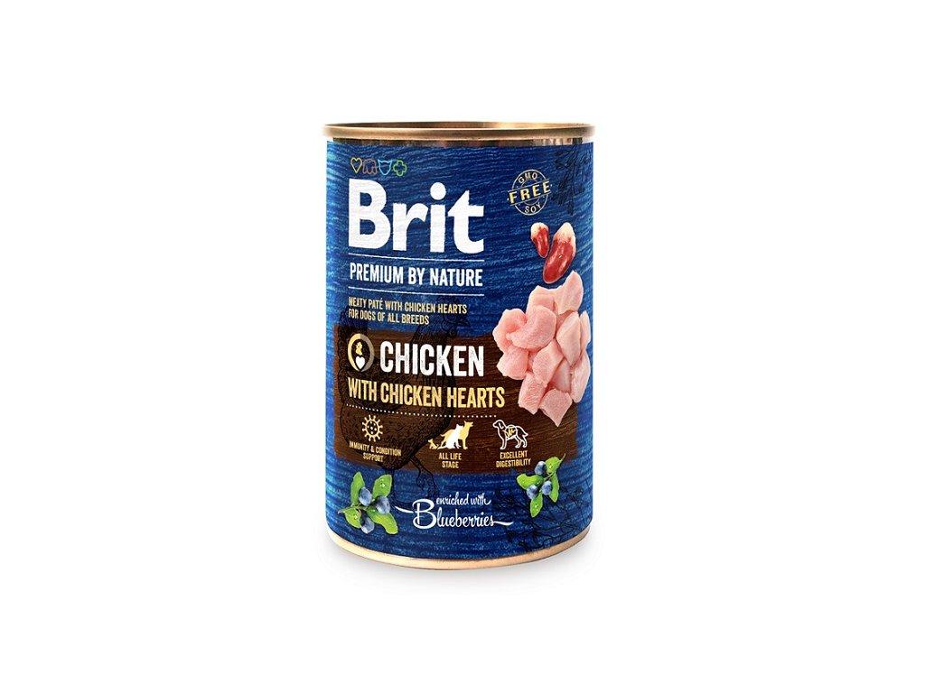 7632 brit premium by nature chicken with hearts 400g