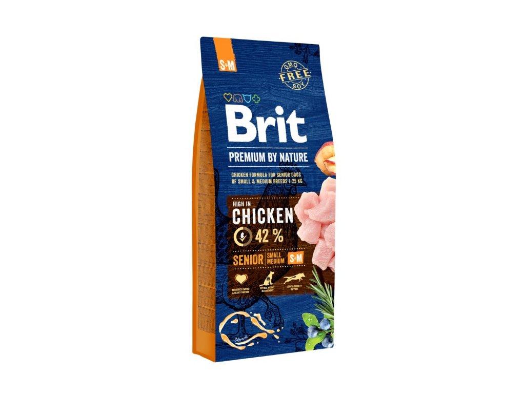 5358 brit premium by nature senior s m 15kg