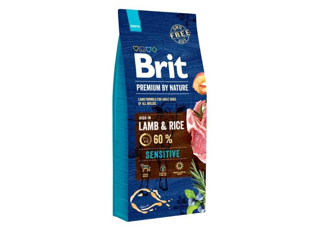 5388 brit premium by nature sensitive lamb 15kg