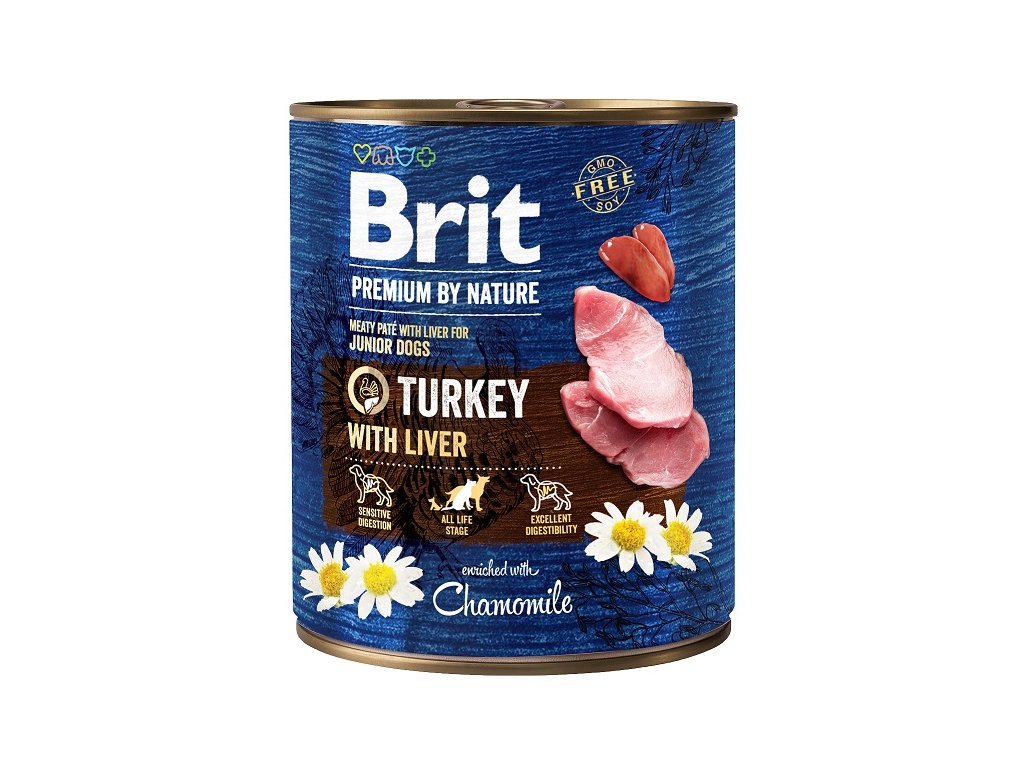 7650 brit premium by nature turkey with liver 800g