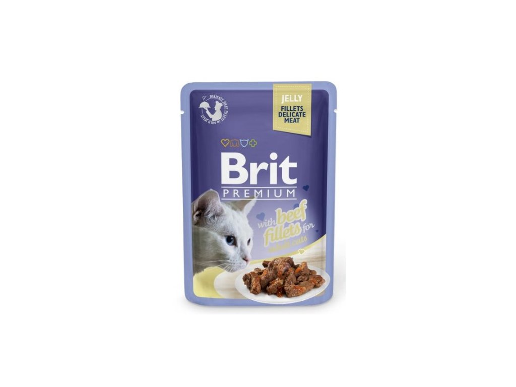4440 brit premium cat delicate fillets in jelly with beef 85g