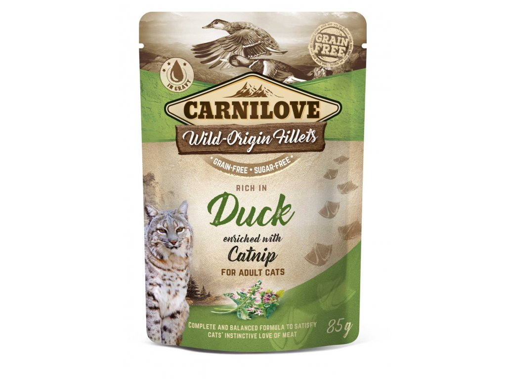 Carnilove Cat Pouch Rich in Duck Enriched with Catnip 85 g