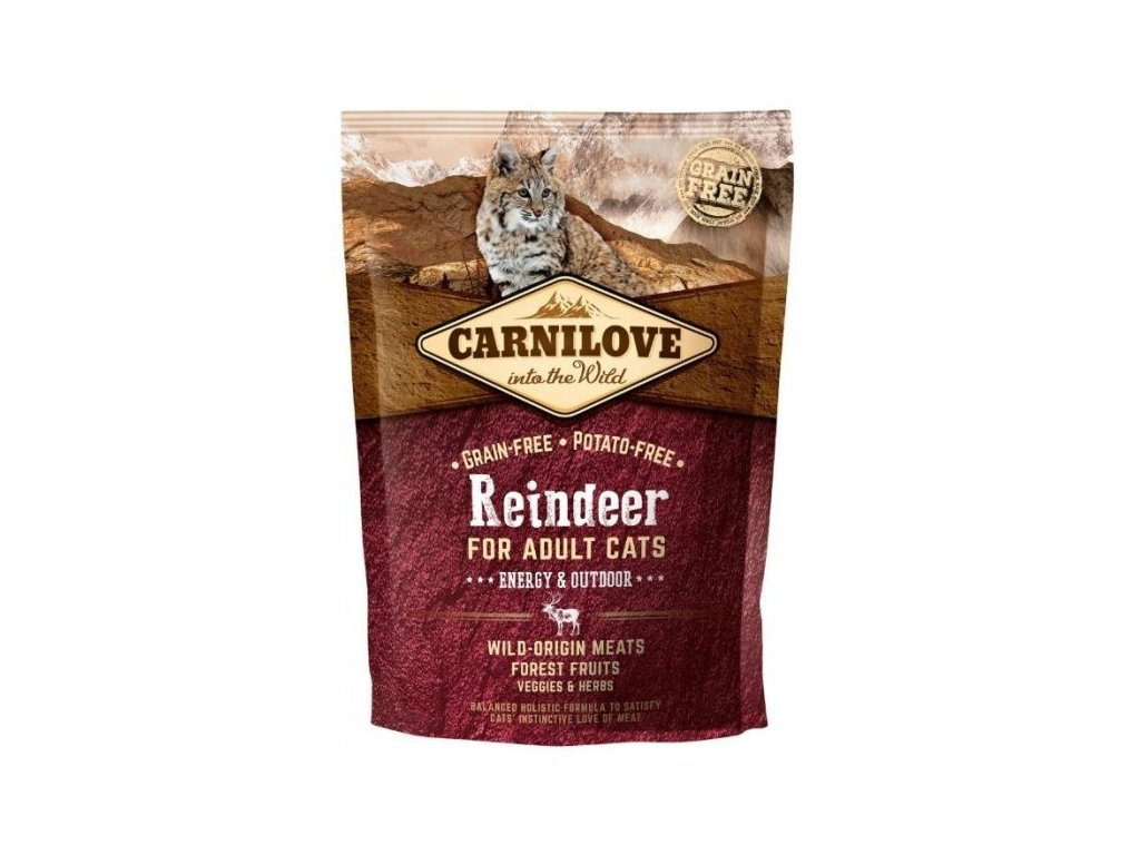 Carnilove Cat Reindeer for Adult Cats Energy & Outdoor 400 g