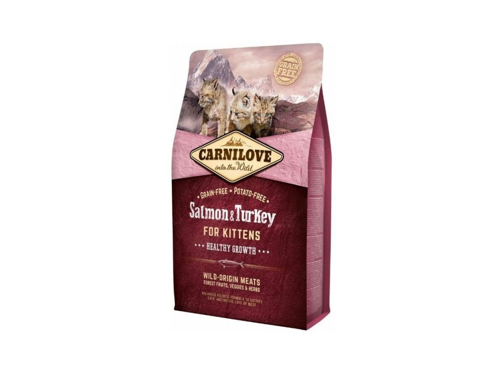 3771 carnilove cat salmon turkey for kittens 2kg